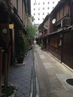Narrow alley in Japan